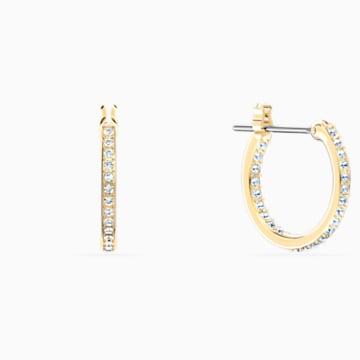 Togetherness 穿孔耳環, 鍍金色色調 - Swarovski, 5561601