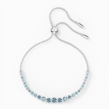 Bracelet Emily Gradient, bleu, métal rhodié - Swarovski, 5562130