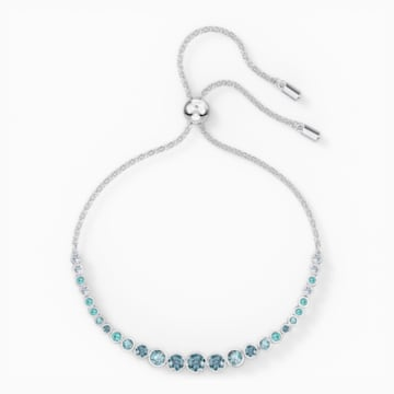Emily-armband met kleurverloop, Blauw, Rodium-verguld - Swarovski, 5562130