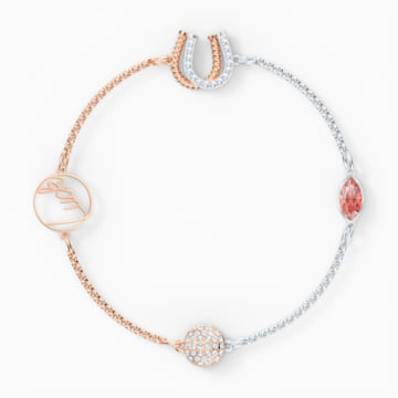 Swarovski Remix Collection Luck Strand, Red, Mixed metal finish - Swarovski, 5563083