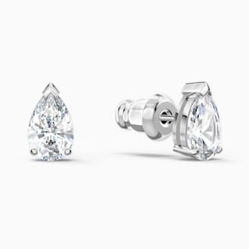 Attract Pear Серьги, Белый Кристалл, Родиевое покрытие - Swarovski, 5563121