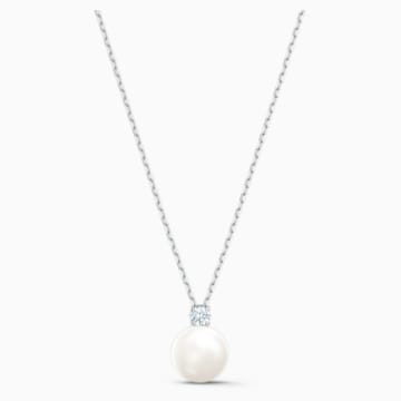 Collier Treasure Pearl, blanc, métal rhodié - Swarovski, 5563288
