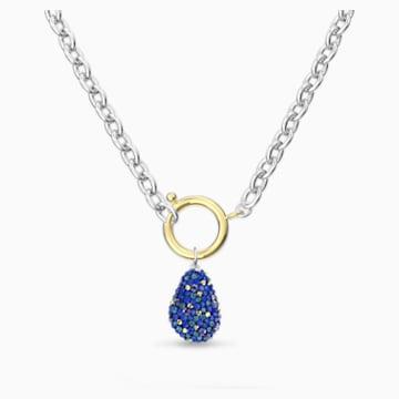 Collar The Elements, azul, combinación de acabados metálicos - Swarovski, 5563511