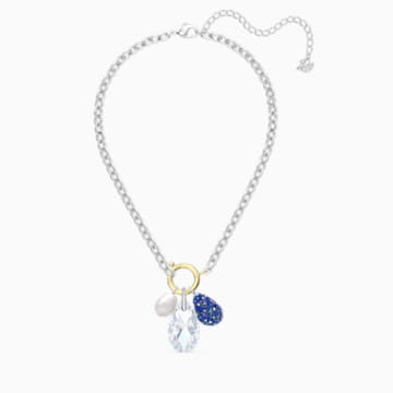 The Elements Halskette, blau, Metallmix - Swarovski, 5563511