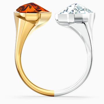 Δαχτυλίδι The Elements, κόκκινο, μικτό μεταλλικό φινίρισμα - Swarovski, 5563512