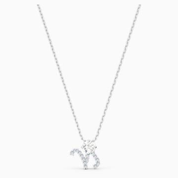 Přívěsek Zodiac II, Kozoroh, bílý, smíšená kovová úprava - Swarovski, 5563892