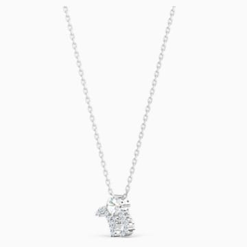 Zodiac II Kolye Ucu, Oğlak, Beyaz, Karışık metal bitiş - Swarovski, 5563892