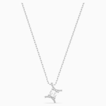 Zodiac II 鏈墜, 雙子座, 白色, 多種金屬潤飾 - Swarovski, 5563893