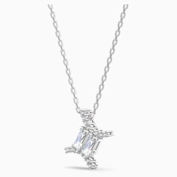 Zodiac II Kolye Ucu, İkizler, Beyaz, Karışık metal bitiş - Swarovski, 5563893