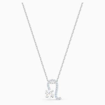 Zodiac II 鏈墜, 獅子座, 白色, 多種金屬潤飾 - Swarovski, 5563894