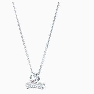 Zodiac II Kolye Ucu, Terazi, Beyaz, Karışık metal bitiş - Swarovski, 5563895