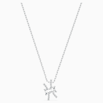Zodiac II 鏈墜, 雙魚座, 白色, 多種金屬潤飾 - Swarovski, 5563896