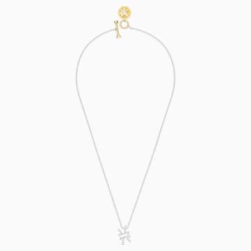 Zodiac II-hanger, Vissen, Wit, Gemengde metaalafwerking - Swarovski, 5563896