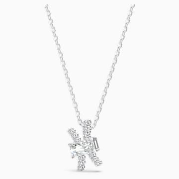 Pendentif Zodiac II, Poissons, blanc, finition mix de métal - Swarovski, 5563896