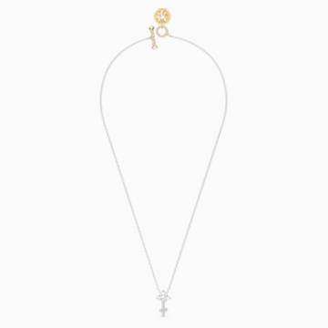 Zodiac II 鏈墜, 射手座, 白色, 多種金屬潤飾 - Swarovski, 5563897