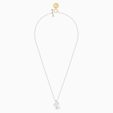 Zodiac II 鏈墜, 天蠍座, 白色, 多種金屬潤飾 - Swarovski, 5563898