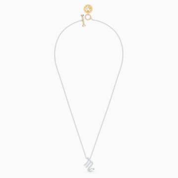 Zodiac II-hanger, Schorpioen, Wit, Gemengde metaalafwerking - Swarovski, 5563898