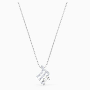 Zodiac II 鏈墜, 處女座, 白色, 多種金屬潤飾 - Swarovski, 5563899