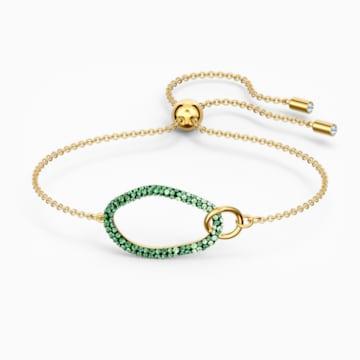 The Elements-armband, Groen, Goudkleurige toplaag - Swarovski, 5563935