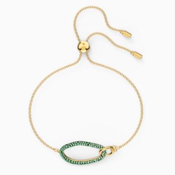 The Elements 手链, 绿色, 镀金色调 - Swarovski, 5563935