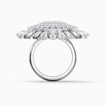 Swarovski Sparkling Dance Dial Up Ring, White, Rhodium plated - Swarovski, 5564427