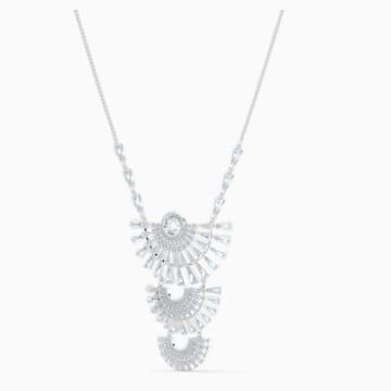 Collier Swarovski Sparkling Dance Dial Up, large, blanc, métal rhodié - Swarovski, 5564432