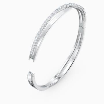 Twist Rows 手链, 白色, 镀铑 - Swarovski, 5565210