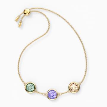 Tahlia karkötő, többszínű, arany árnyalatú bevonattal - Swarovski, 5565550