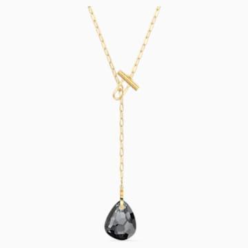 T Bar Y-Halskette, grau, vergoldet - Swarovski, 5565997