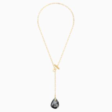 T Bar Y Necklace, Grey, Gold-tone plated - Swarovski, 5565997
