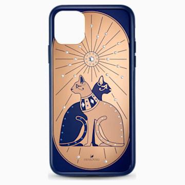 Theatrical Cat Smartphone case with bumper, iPhone® 11 Pro Max, Multicolored - Swarovski, 5566446