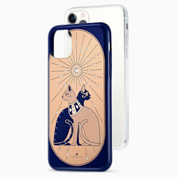 Theatrical Cat Smartphone case with bumper, iPhone® 11 Pro Max, Multicolored - Swarovski, 5566446