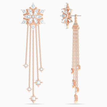 Pendientes Magic, blanco, baño tono oro rosa - Swarovski, 5566674
