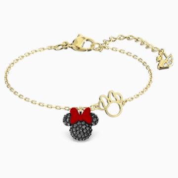 Pulsera Minnie, negro, baño tono oro - Swarovski, 5566690