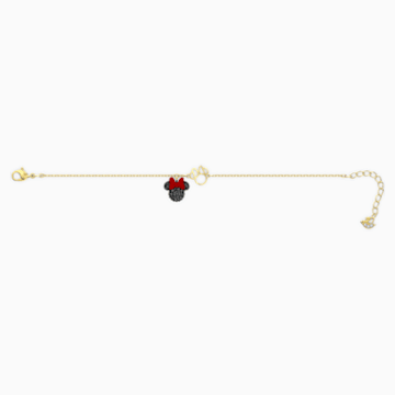 Minnie Bracelet, Black, Gold-tone plated - Swarovski, 5566690