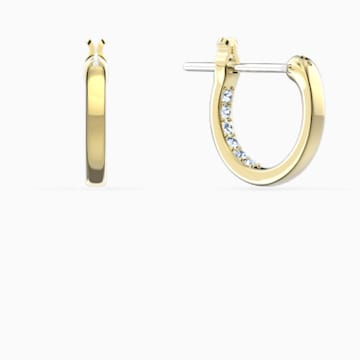 Minnie Серьги-обручи, Черный Кристалл, Покрытие оттенка золота - Swarovski, 5566692