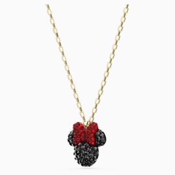 Minnie 链坠, 黑色, 镀金色调 - Swarovski, 5566693