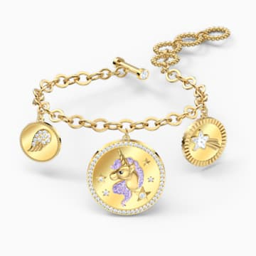 Out of this World Unicorn 手链, 中码, 紫色, 镀金色调 - Swarovski, 5566746