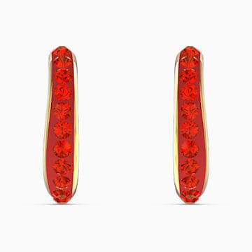 The Elements Kreolen, rot, vergoldet - Swarovski, 5567358