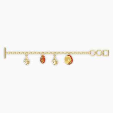 The Elements Bracelet, Red, Gold-tone plated - Swarovski, 5567361