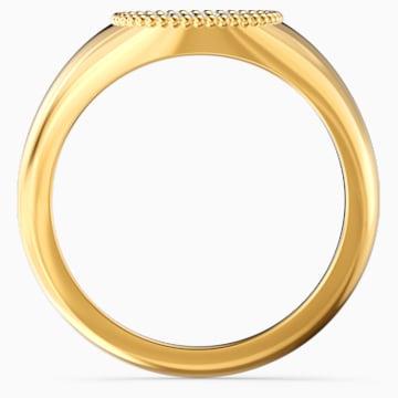Δαχτυλίδι Ginger Signet, λευκό, επιχρυσωμένο - Swarovski, 5567527