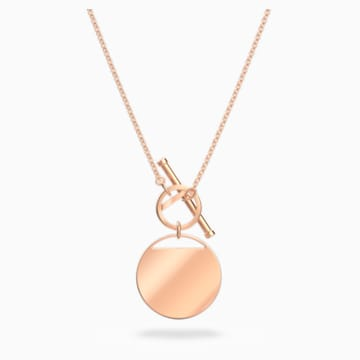 Ginger T Bar Halskette, weiss, Rosé vergoldet - Swarovski, 5567529