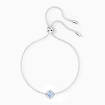Brățară Angelic tip cushion, albastră, placată cu rodiu - Swarovski, 5567933
