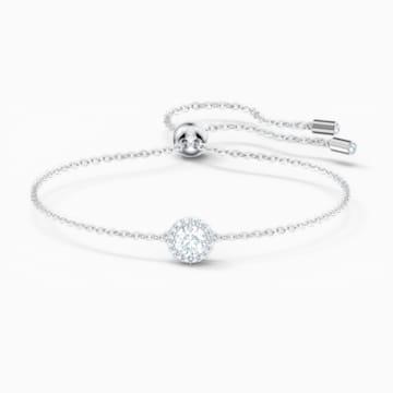 Angelic Round 手链, 白色, 镀铑 - Swarovski, 5567934