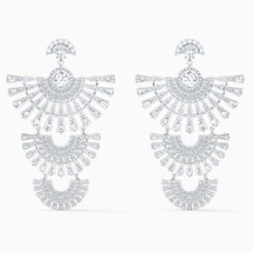 Swarovski Sparkling Dance-dial up-steekoorbellen, Wit, Rodium-verguld - Swarovski, 5568008