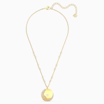 The Elements 链坠, 黄色, 镀金色调 - Swarovski, 5568266