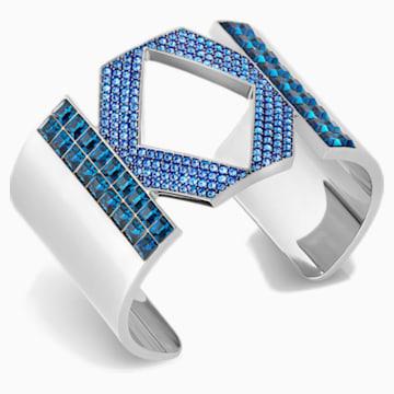 Brazalete Karl Lagerfeld Logo, azul, baño de paladio - Swarovski, 5568585
