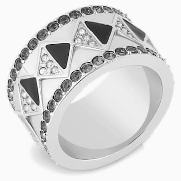 Karl Lagerfeld Geometric Ring, Gray, Palladium plated - Swarovski, 5568609