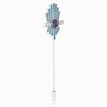 Karl Lagerfeld Brosche, blau, palladiniert - Swarovski, 5568610