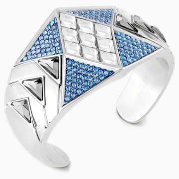 Manchette Karl Lagerfeld Statement, bleu, métal plaqué palladium - Swarovski, 5568630